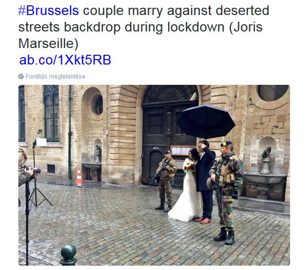 Rosszul időzített esküvő Brüsszelben