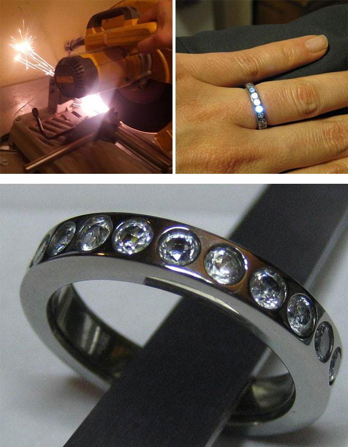 Eljegyzési gyűrűk igazi kockáknak
