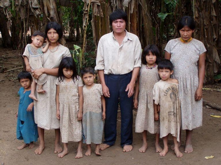 Egy tsimane családban általában sok gyerek van