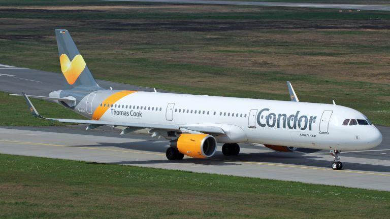 A Condor Airbus 321-ese. Egy ilyen szállt le Ferihegyen ma délelőtt