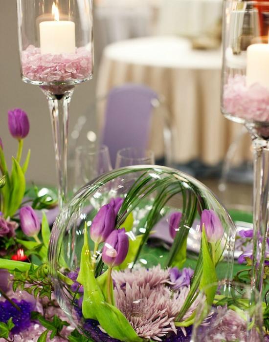 Nagyobb eseményekre, például esküvőkre is csodaszép asztali dísz