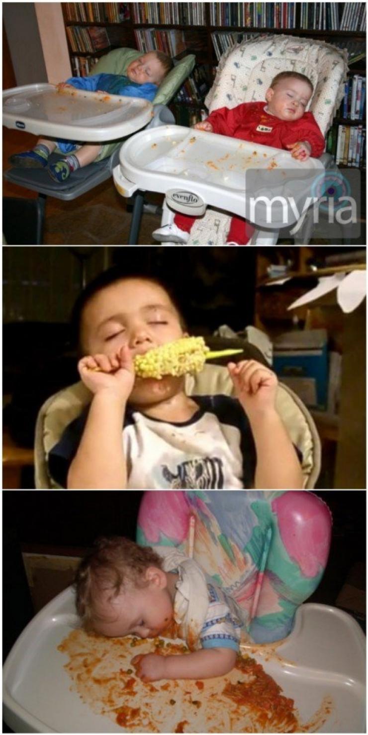 Ezek a gyerekek bárhol és bármikor képesek elaludni – vicces képek