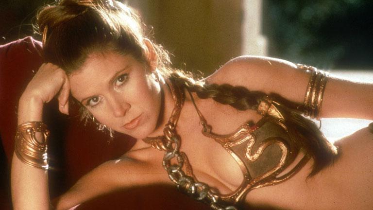 A legendás arany bikini, amit Carrie Fisher gyűlöl (Fotó: Tumblr)
