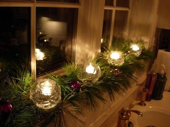 Karácsonyi ablakdekorációk egyszerűen