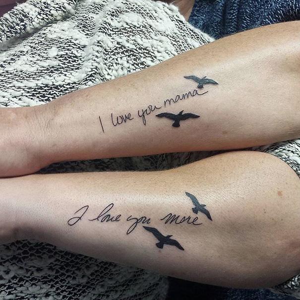 Megható anya-lánya tetoválások fejezik ki az életre szóló köteléket