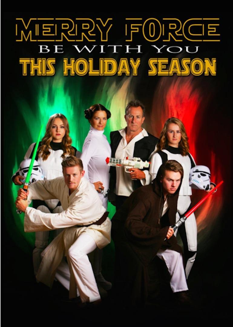 Ilyen vagány Star Warsos üdvözlőlapot csinált karácsonyra ez a család