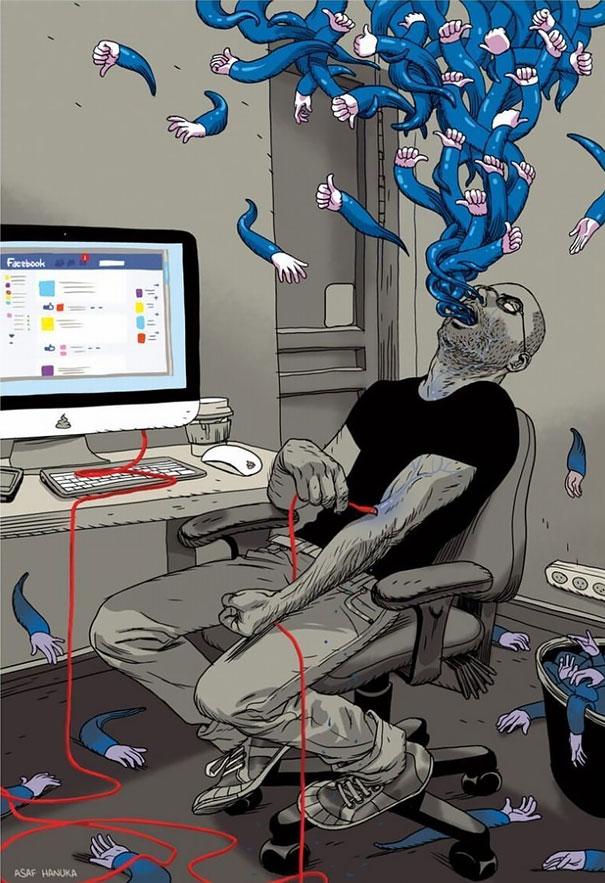10 zseniális szatirikus rajz technikaimádó korunkról
