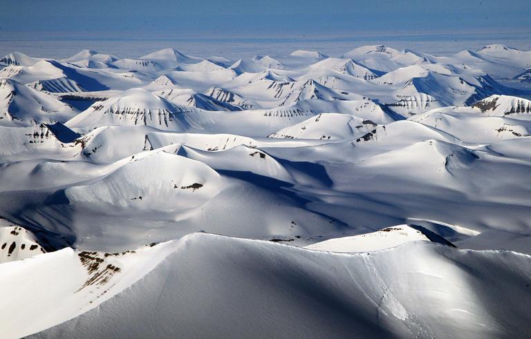 Lonyearbyen, Norvégia - Spitzbergák