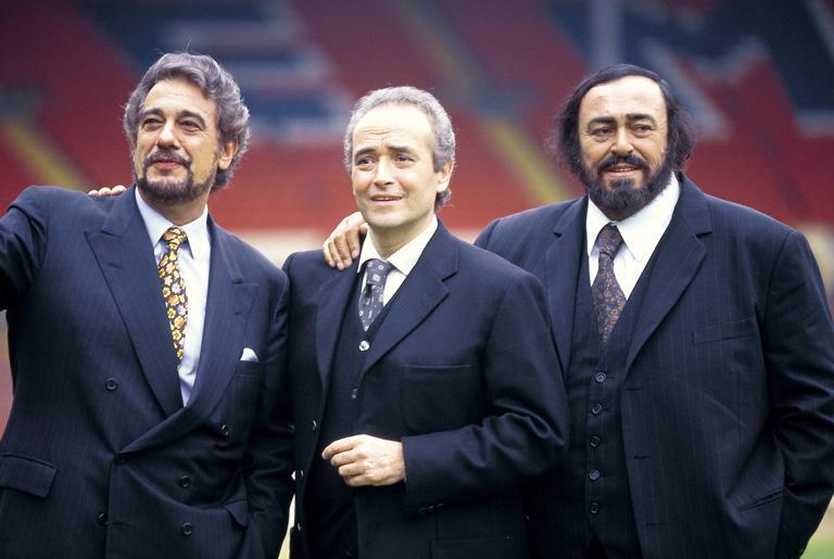 A három tenor: Plácido Domingo, José Carreras és Luciano Pavarotti