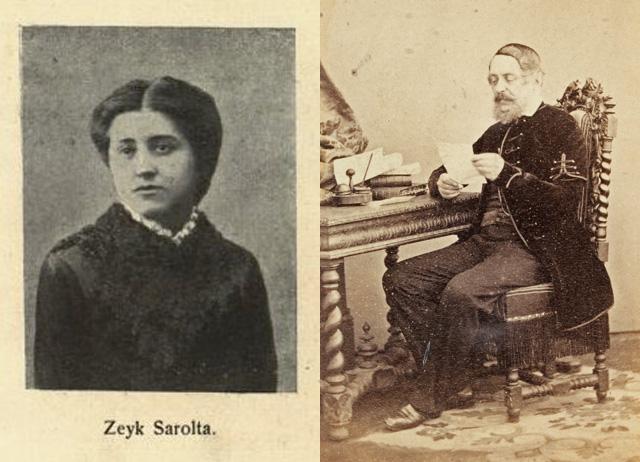 Zeyk Sarolta és az idős Kossuth Lajos
