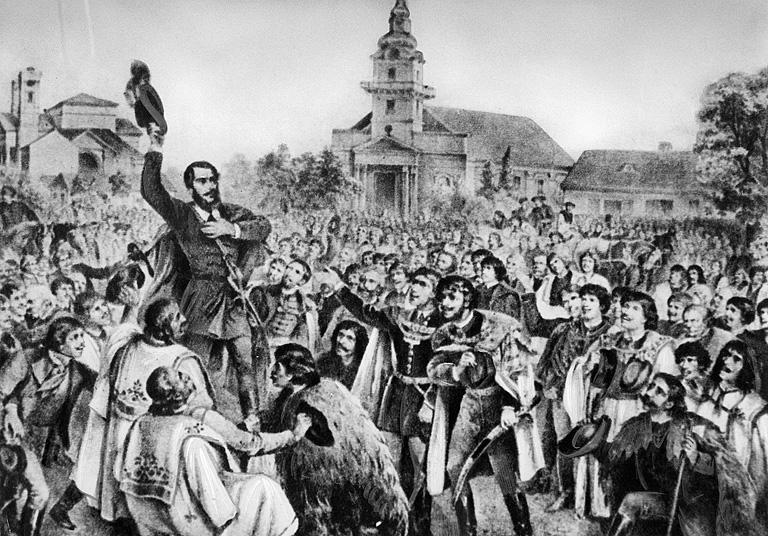 Kossuth ceglédi toborzó beszéde