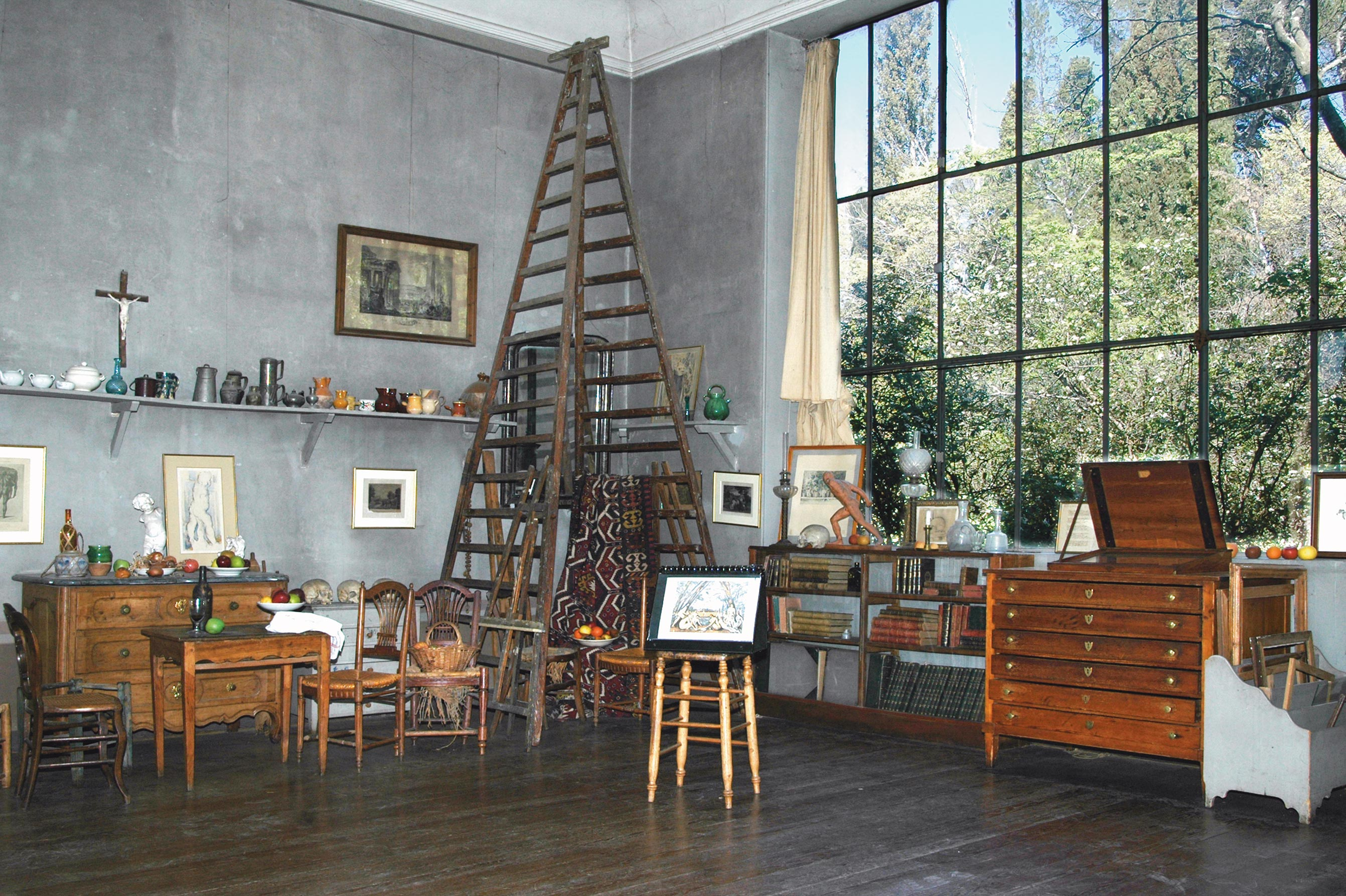 Cézanne műterme Provance-ban