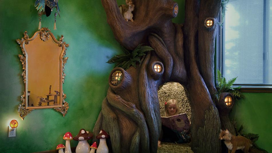 Varázslatos fakuckót csinált kislánya szobájába az ezermester apuka