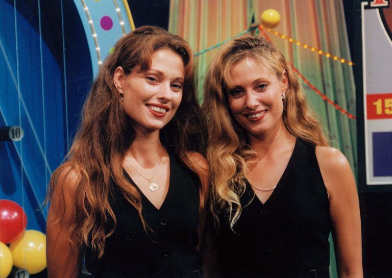 Fejes Mara és Erika a Telemázli c. műsorban 1999-ben