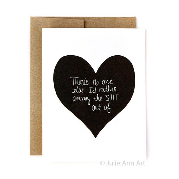 Őszinte kártyák Valentin napra azoknak a pároknak, akik értik a viccet