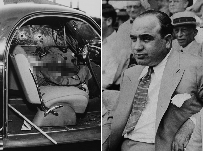 A maffia háborúnak rengeteg áldozata volt - a jobb oldalon Al Capone (a Sebhelyesarcú)