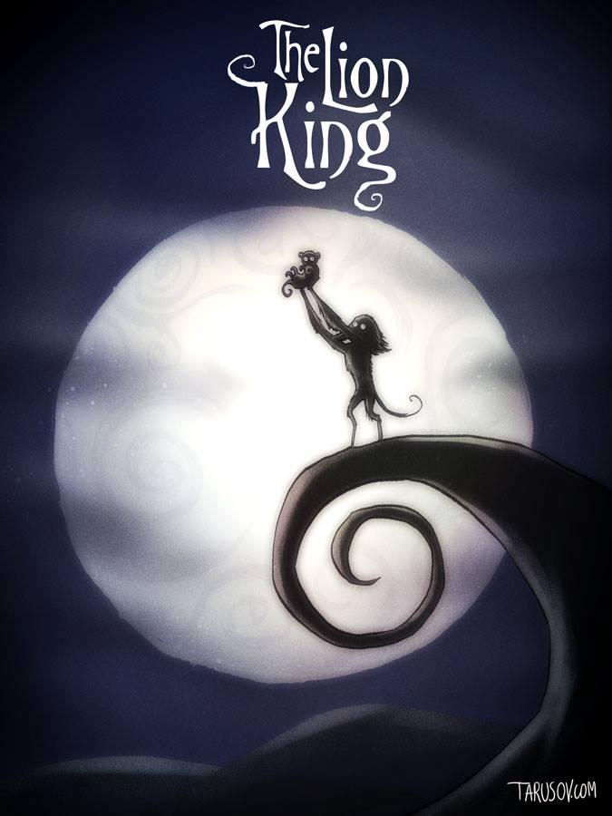 Így festenének a Disney hősök Tim Burton szemével