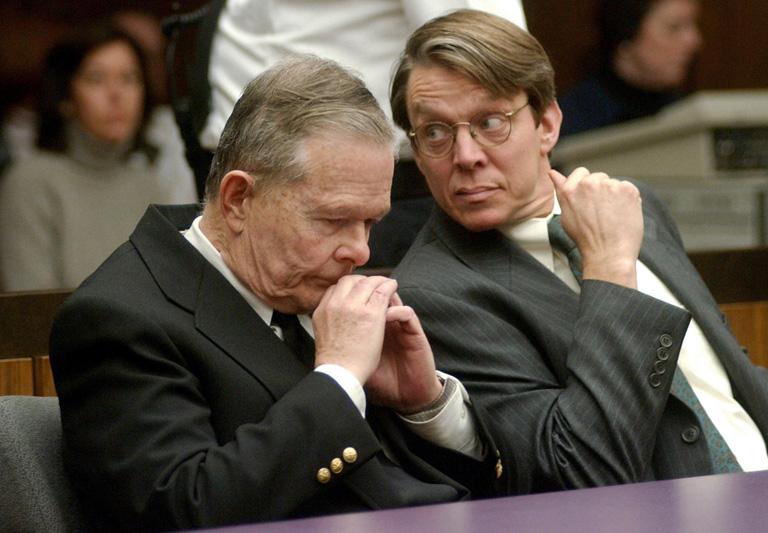 John Geoghen a bíróságon (Fotó: KEVIN WISNIEWSKI/AFP)