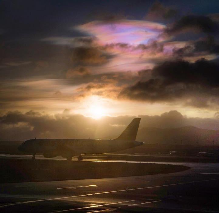 Szivárványos naplementét fotóztak Angliában
