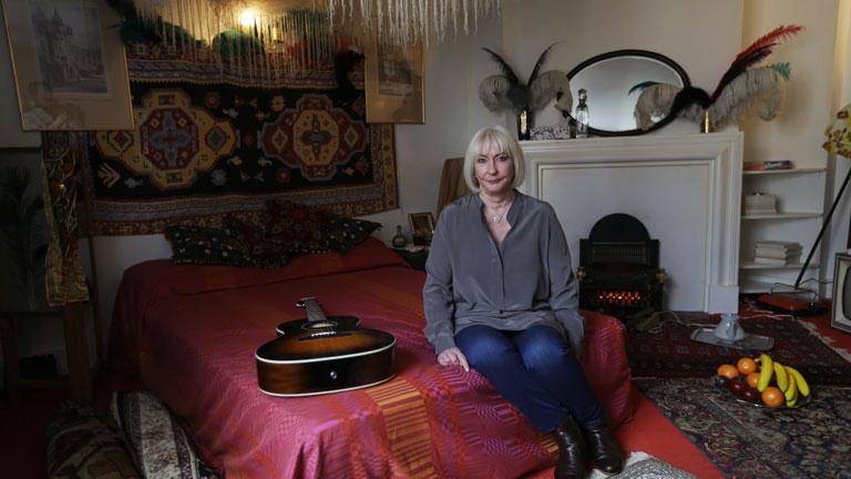 Hendrix barátnője, Kathy Etchingham - Fotó: MTI/AP/Matt Dunham