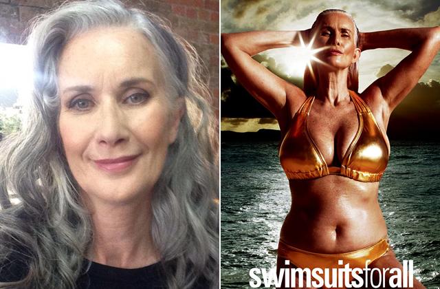 56 éves modell feszít a bikinis magazinban