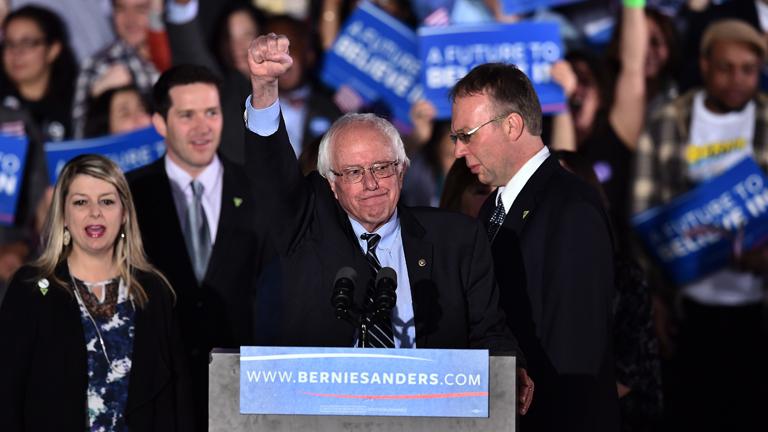 Bernie Sanders a demokrata érzelmű fiatalok között rendkívül népszerű