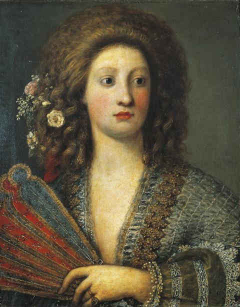 Portré egy kurtizán hölgyről - Girolamo Forabosco festménye