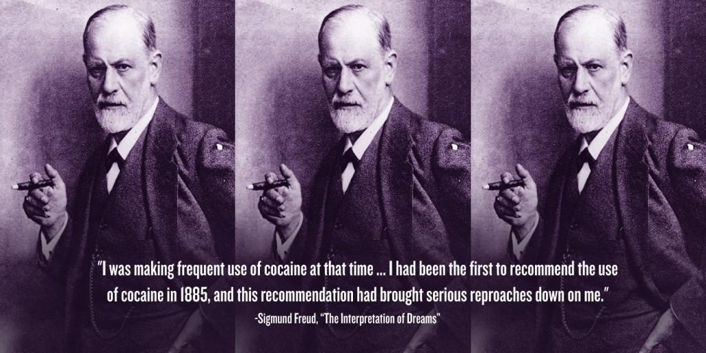 Sigmund Freud nagy rajongója volt a kokainnak, mentális és fizikai problémák enyhítésére is ajánlotta a szert