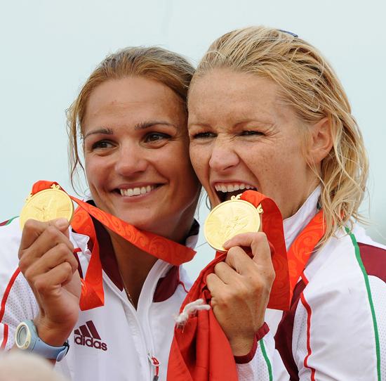 Janics Natasával - az aranyérmes páros a 2008-as pekingi olimpián