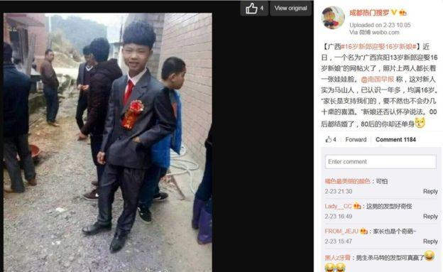 Illegális házasság Kínában - 16 évesen mondták ki az igent