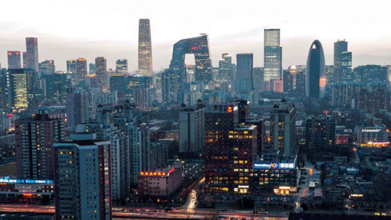 Peking látképe