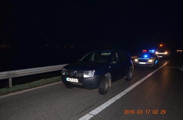 Tatánál vezették le a rendőrök az osztrák férfit az autópályáról