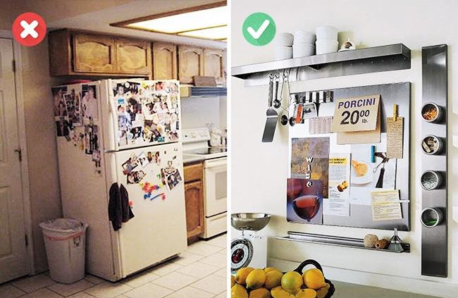 A hűtőre biggyesztett mágnesek rontják a konyha összképét. Ha gyűjtöd a mágneseket, akkor érdemes külön mágnestáblát