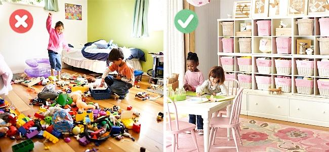 A gyerekek játékait érdemes dobozolni. Nemcsak nekik, de neked is nagy könnyebbség lesz a pakolásnál!