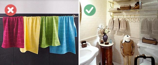 Ha változtatsz a fürdőszobád stílusán ne feledd a törülközőket is lecserélni. Egy letisztult, modern fürdőhöz már nem illenek az ezeréves, delfines, bazsarózsás törcsik!