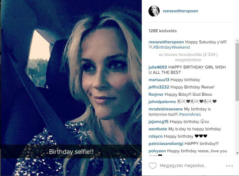 Reese Witherspoon 40. születésnapja jobb, mint az Oscar parti