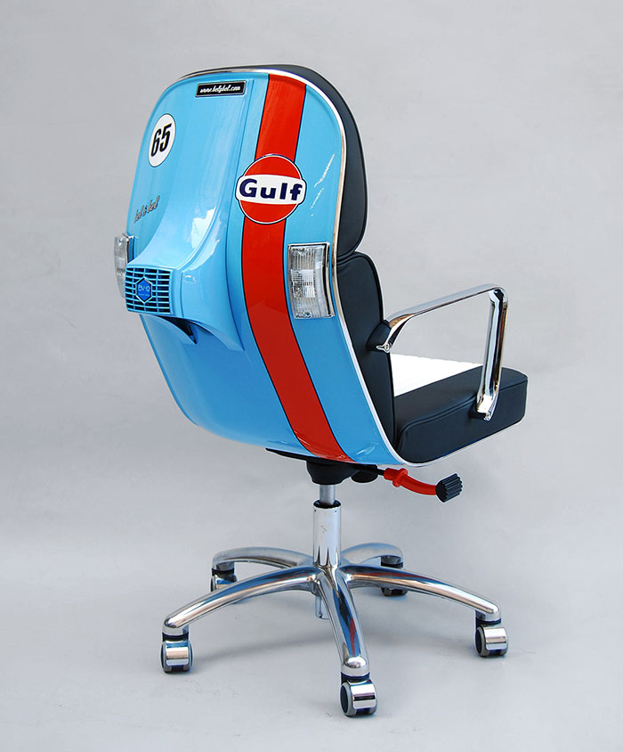 Régi Vespákból lettek a menő irodai székek - képek