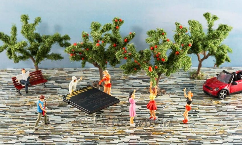 Zseniális miniatűr világokat kreál a fotós