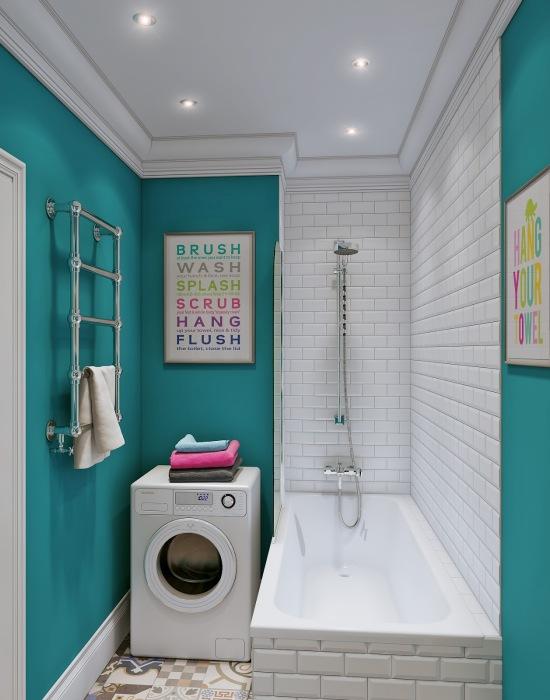 Kicsi lakás nem szűk lakás: így helyezd el a mosógépet a garzonban!