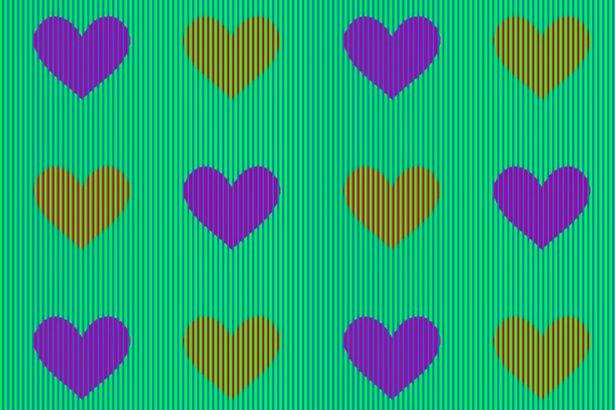 Az internet népe elbukott a szivecskék színének megállapításában - te kitalálod, milyen színűek?