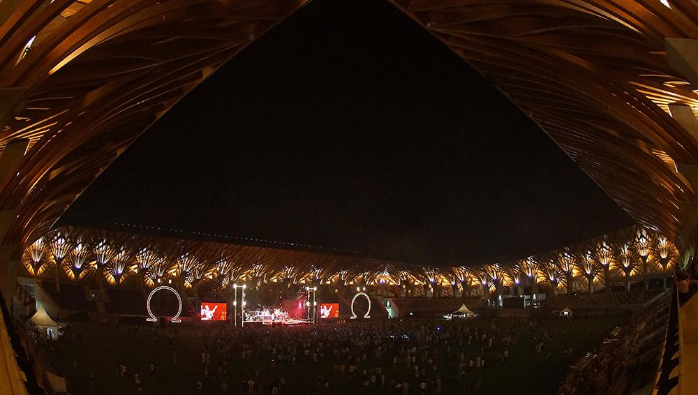 Ez itt nem meccs, hanem egy Omega koncert az Arénában. Fotó: puskasakademia.hu