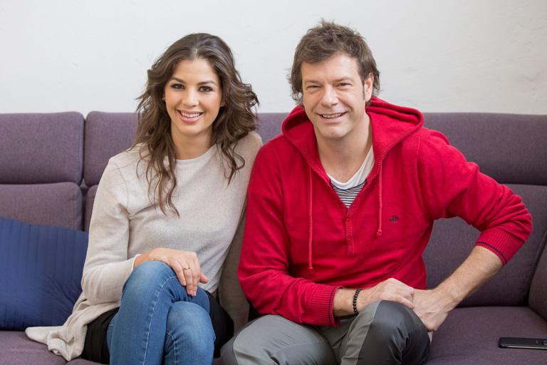 Ördög Nóra és Till Attila, a Kismenők című tehetségkutató műsorvezetői