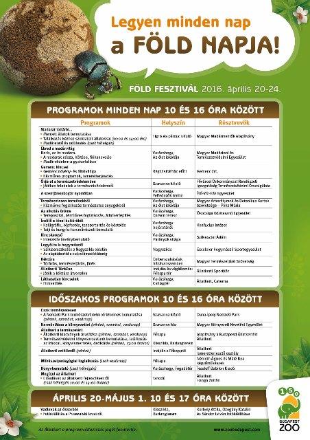 Részletes program az állatkert honlapján
