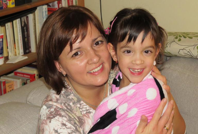 Éva és kislánya Hanna