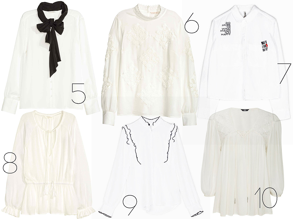 A legjobb fehér ingek, blúzok és ingruhák 10 000 forint alatt
