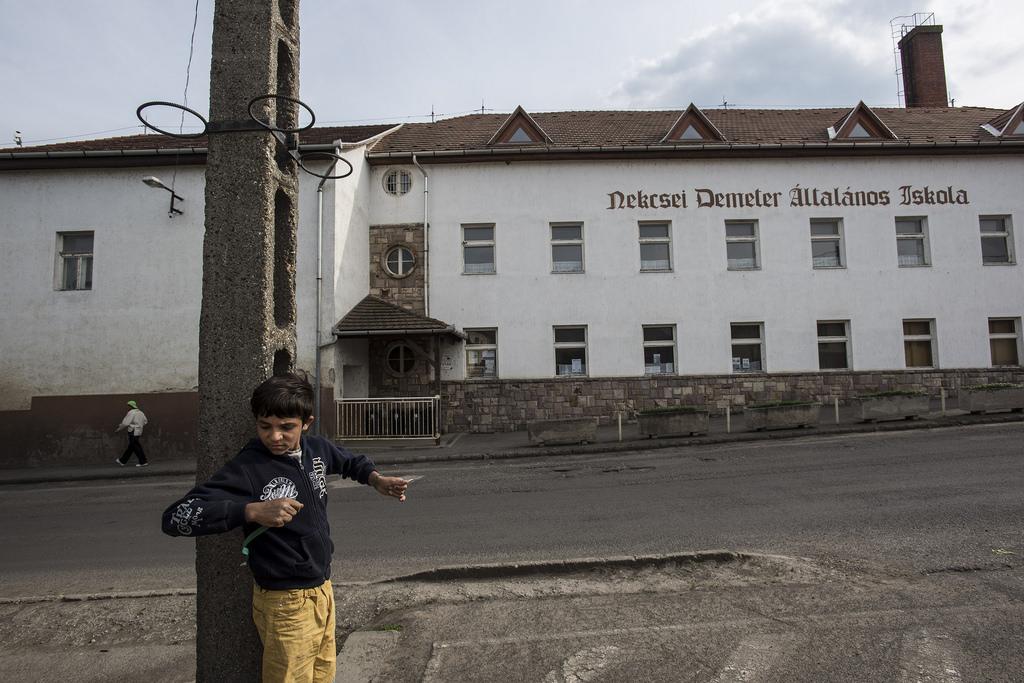A gyöngyöspatai általános iskola épülete. A Kúria jogerősen kimondta, hogy az iskolában törvényellenesen szegregálták a roma gyerekeket. Fotó: Hajdú D. András