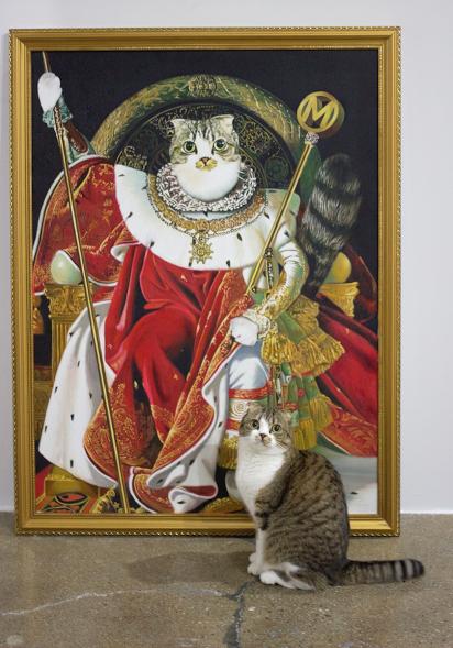 Saját portréfestményt kapott a nemes macska
