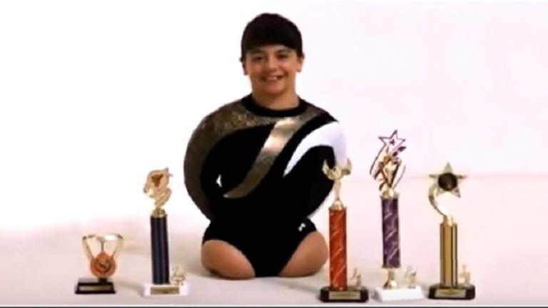 Anyja elhagyta, mert lábak nélkül született - azóta a gimnasztika bajnoka lett a lányból!