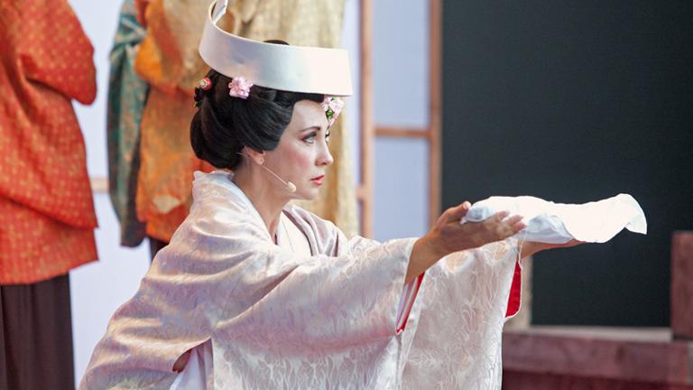 ) Rost Andrea a Pillangókisasszony című Puccini-operában énekelt először szabadtéren, a Margitszigeten (Fotó: Kaiser Ottó, 2013