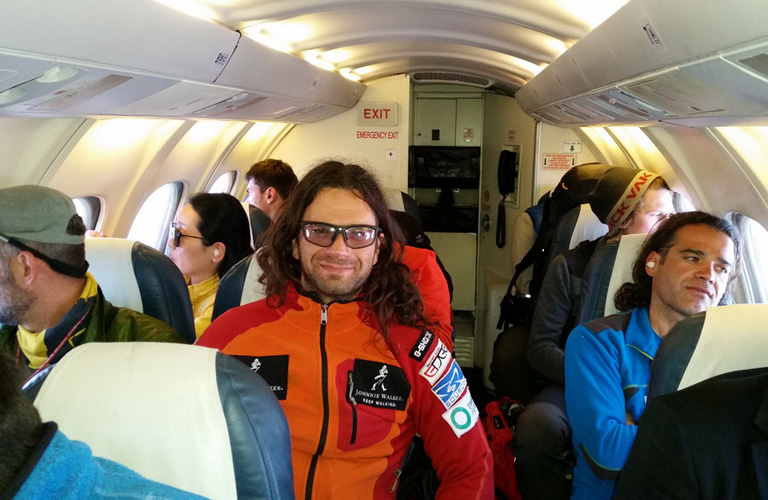 Dávid a repülőn Forrás: Johnnie Walker Annapurna Expedíció